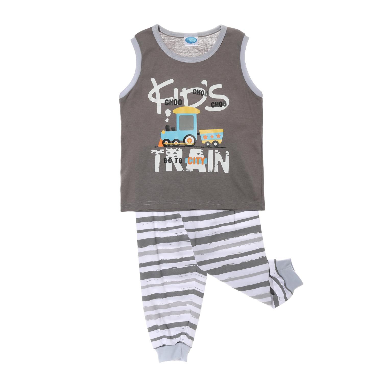 1923d2dc5 Nap Toddler Boys Kids Train Pajama Set in Gray