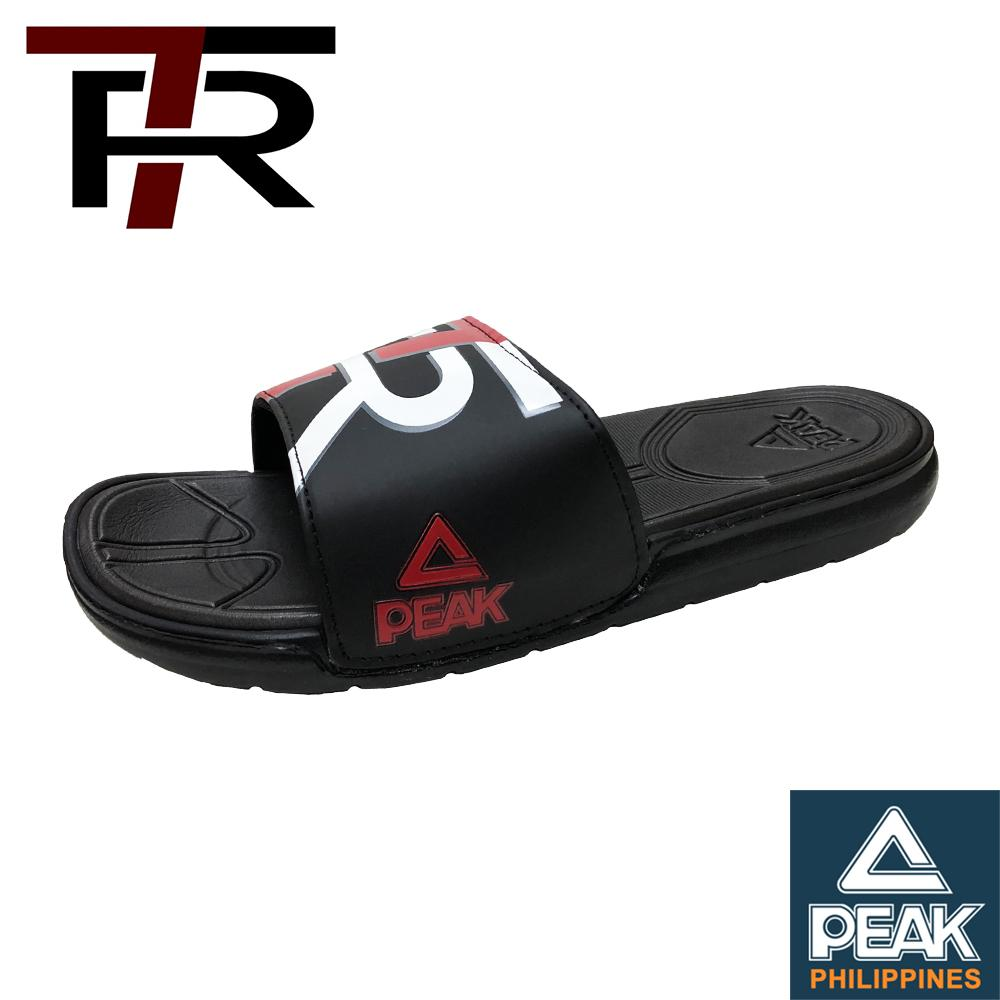 3fbe06ebc284 Peak Men s TR7 Terrence Romeo Sports Slides Sandals  Black Red  S20181BR
