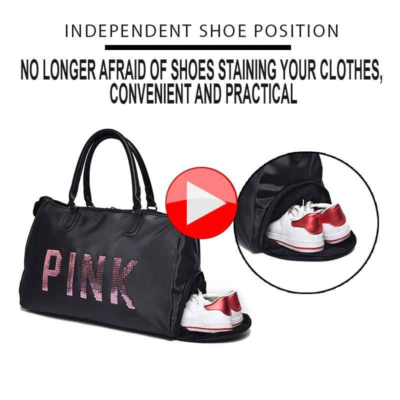 2a2468b32721 Abby Shi 508 Women Oxford Pink Travel Bag Waterproof Weekender Luggage Bags  (Medium)