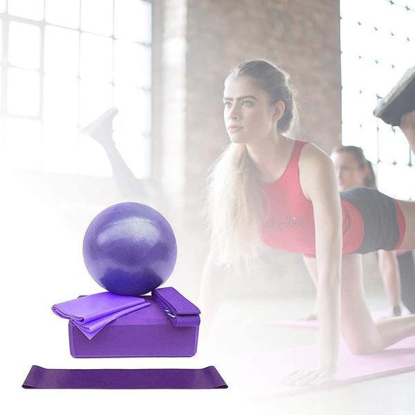 Bảng giá Acquire【hot Salling】five-Bộ Chi Tiết Thiết Bị Yoga Nam Nữ Tập Gym Có Chứa Bóng Tập Yoga Khối Tập Yoga Dây Co Giãn Băng Tập Đàn Hồi Hộ Gia Đình