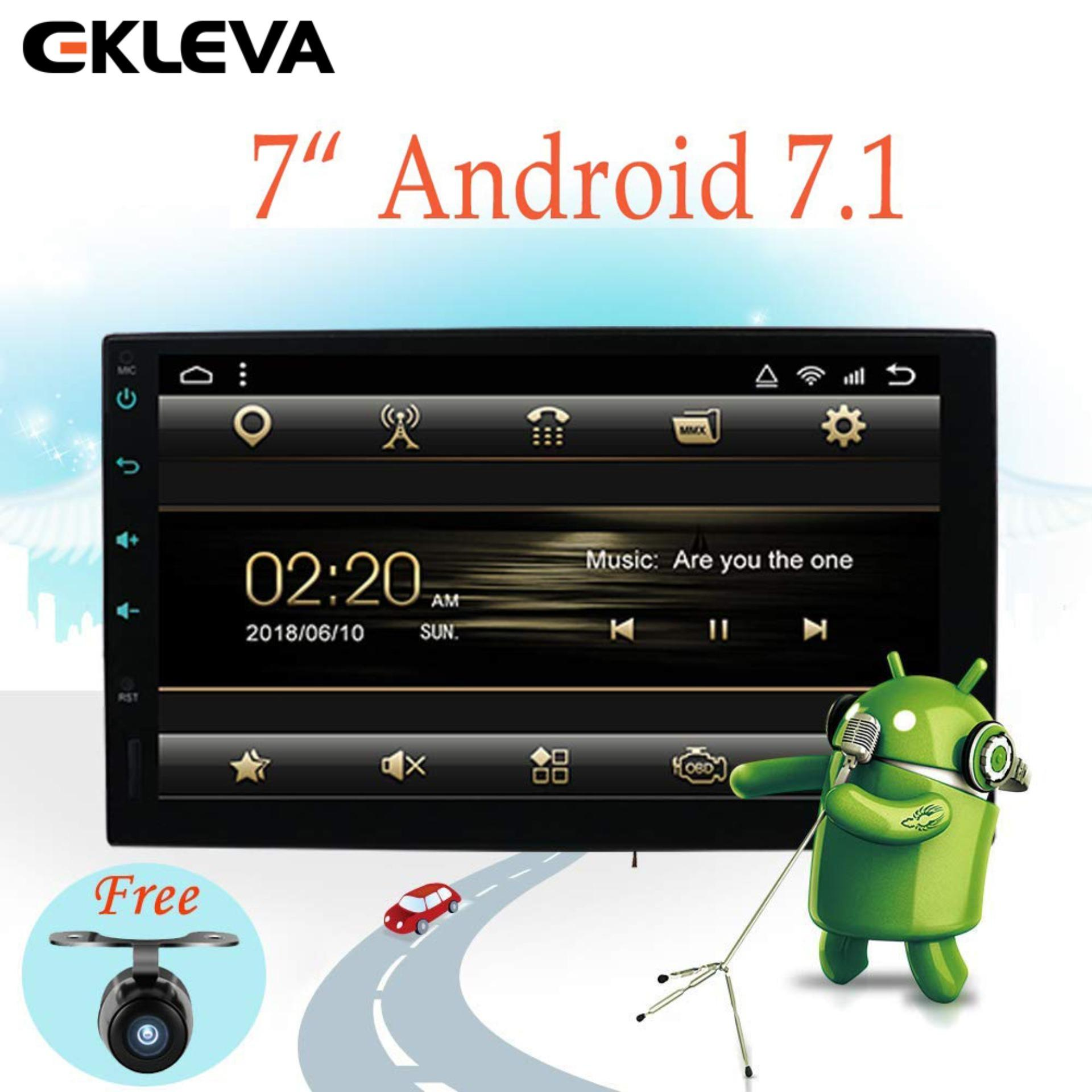 "EKLEVA Latest Android 7.1 Car Radio 7"" HD 1024 X 600 Touchscreen Car Navigation Stereo - 2 Din Quad core Car Entertainment Multimedia/FM/AM/RDS Radio,GPS,WiFi,BT,Mirror Link - (No DVD Player!) image"