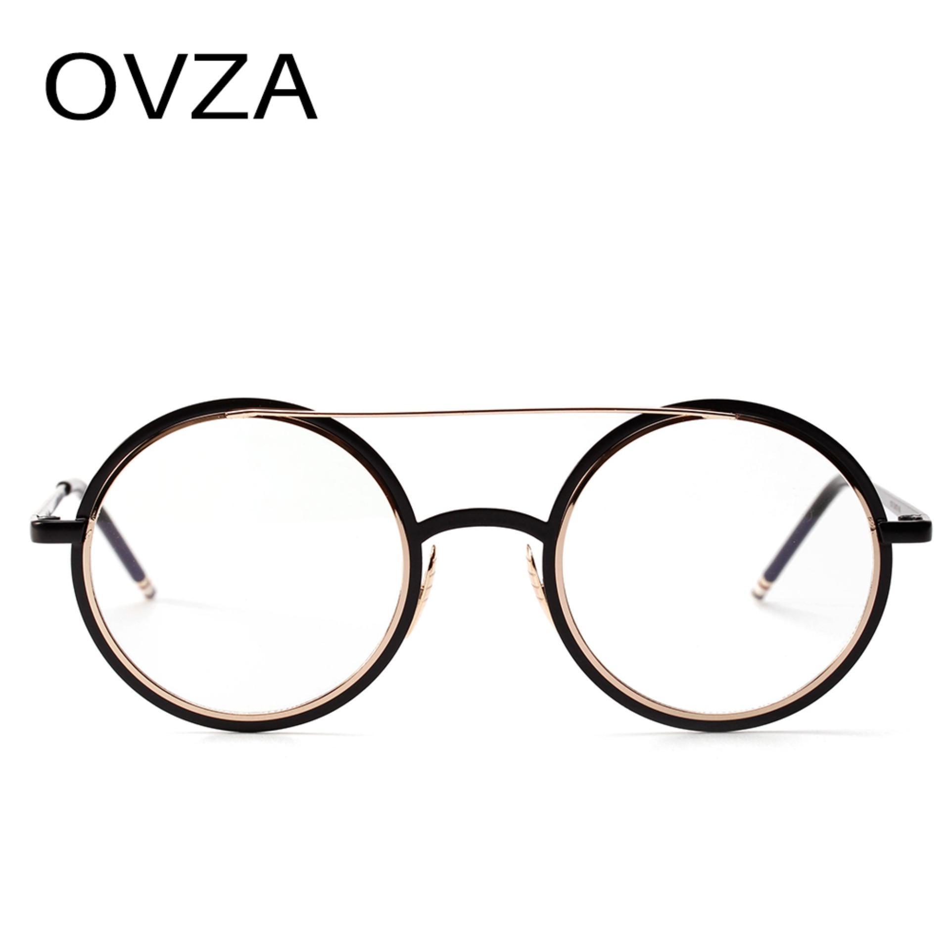 74ce4adab OVZA Fashion Round Optical Frame Women Retro Metal Eyeglasses Frames Men  Reading Glasses Frames - intl