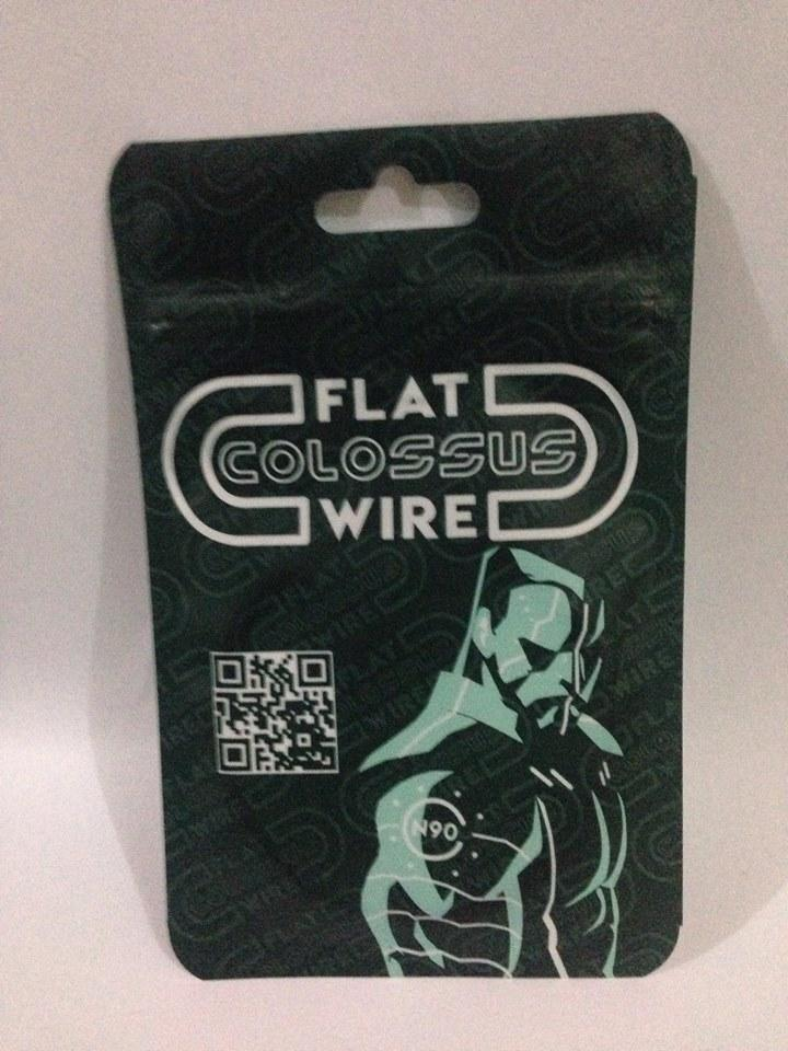 Flat Colossus Vape Wire 2 Meters (6.5 feet) legit Vaping Wire 25/27 ga