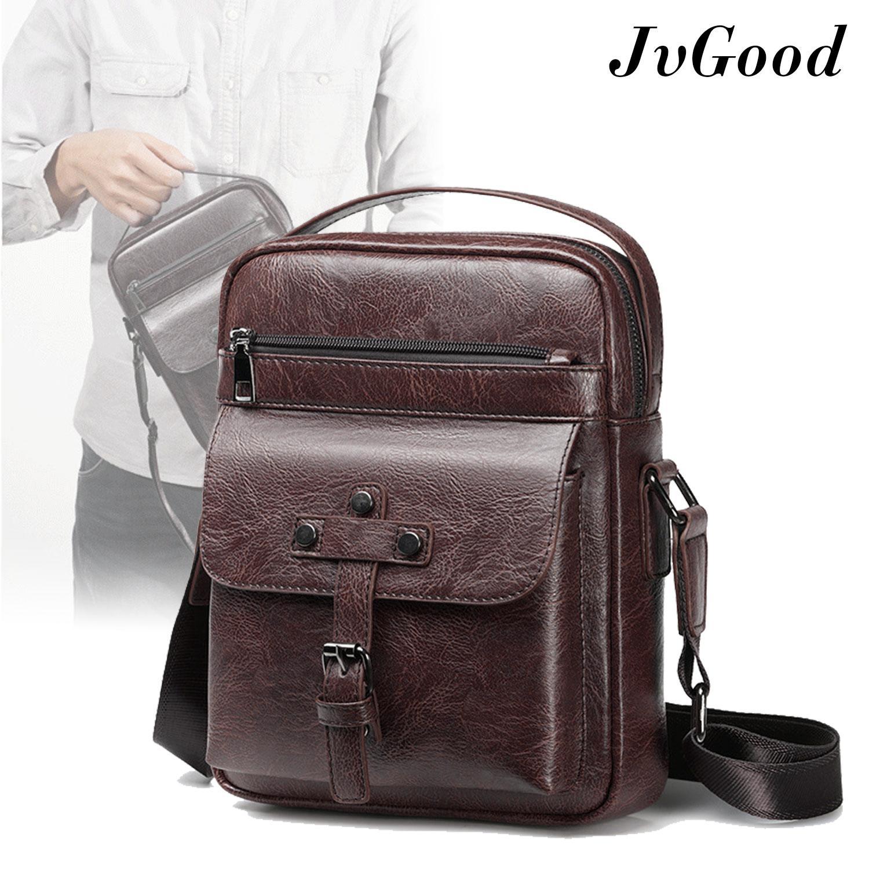 JvGood Messenger Bags Men Sling Bag Crossbody Bag Shoulder PU Leather Pouch  Bags Business Handbag Bags Fashion
