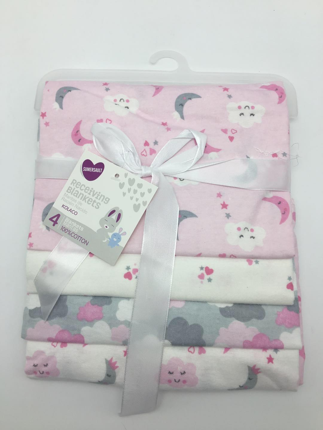 4 In 1 Baby Blanket Orted 100 Cotton