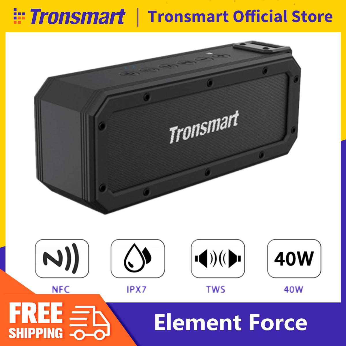 【Free Shipping + Flash Deal】Tronsmart Element Force TWS Bluetooth Speaker  Stereo IPX7 Portable Subwoofer