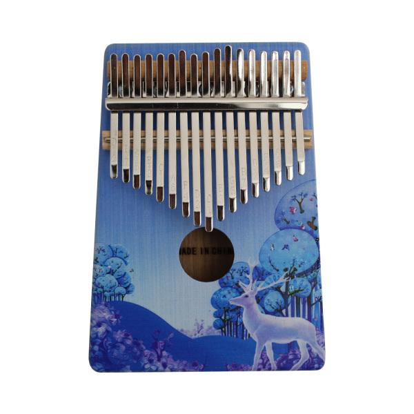 Đàn kalimba 17 phím bằng gỗ di động mbira với bản vẽ màu nhạc cụ quà tặng cho những người yêu âm nhạc học sinh mới bắt đầu