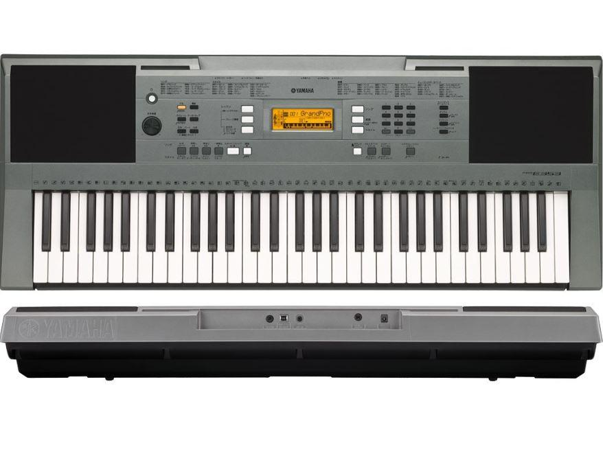 Yamaha PSRE353 Keyboard with USB Connection, Stand and Sustain Pedal (Black)