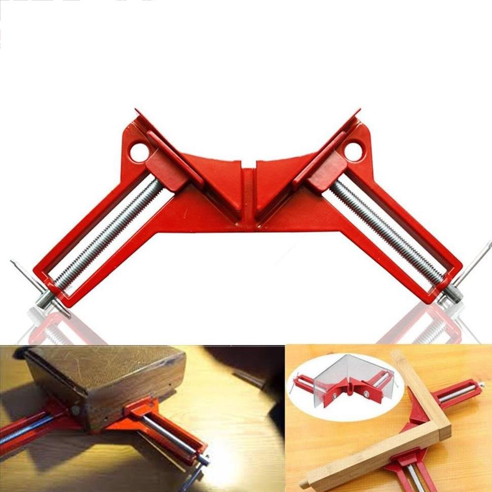 Big House Woodworking 90Degree Right Angle Picture Frame Corner Clamp Clip Holder Hand Kit Red