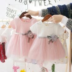 I Love Daddy&Mummy Đầm công chúa thời trang dễ thương dành cho bé gái sơ sinh mặc trong lễ thôi nôi – INTL