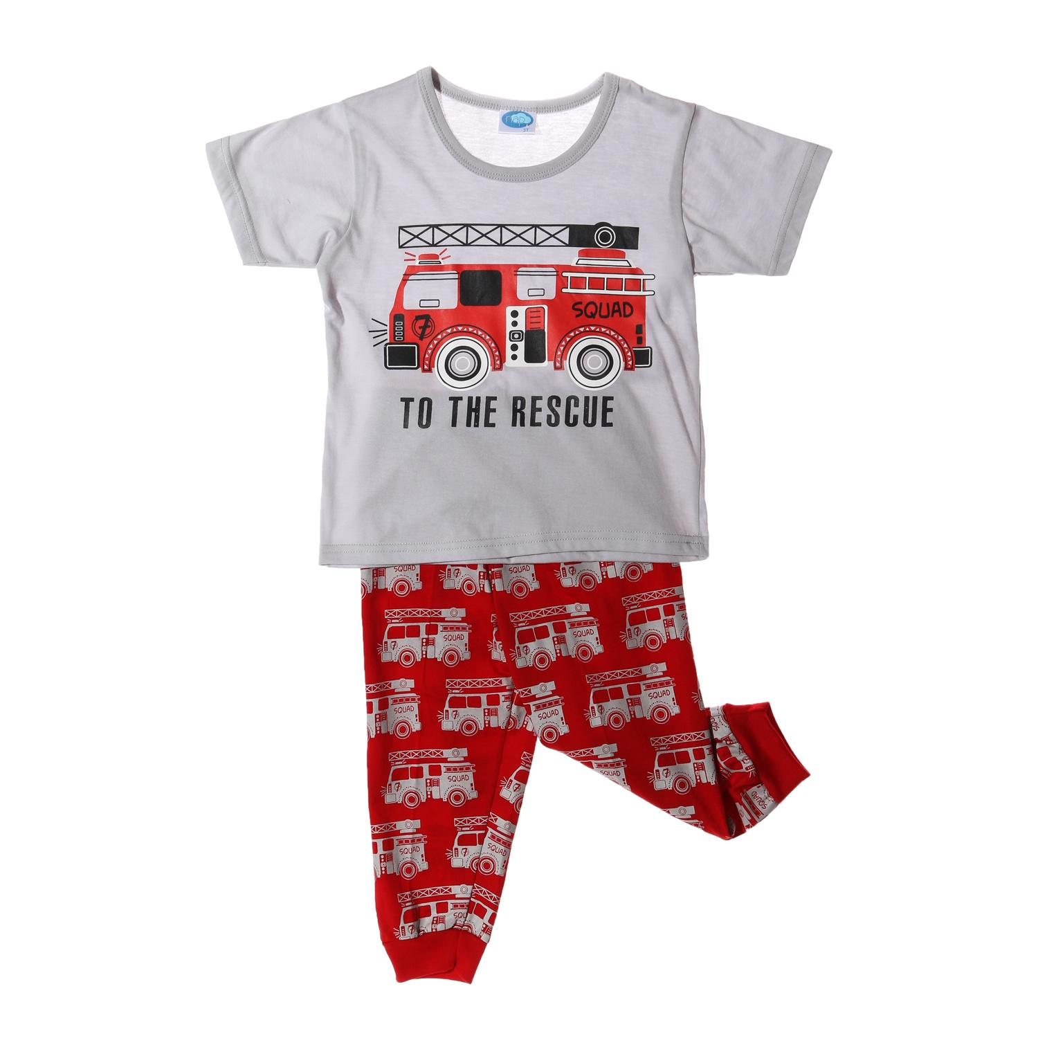 be3f356e311d2 319047 items found in Clothing & Accessories. Nap Toddler Boys To The  Rescue Pajama Set in Gray