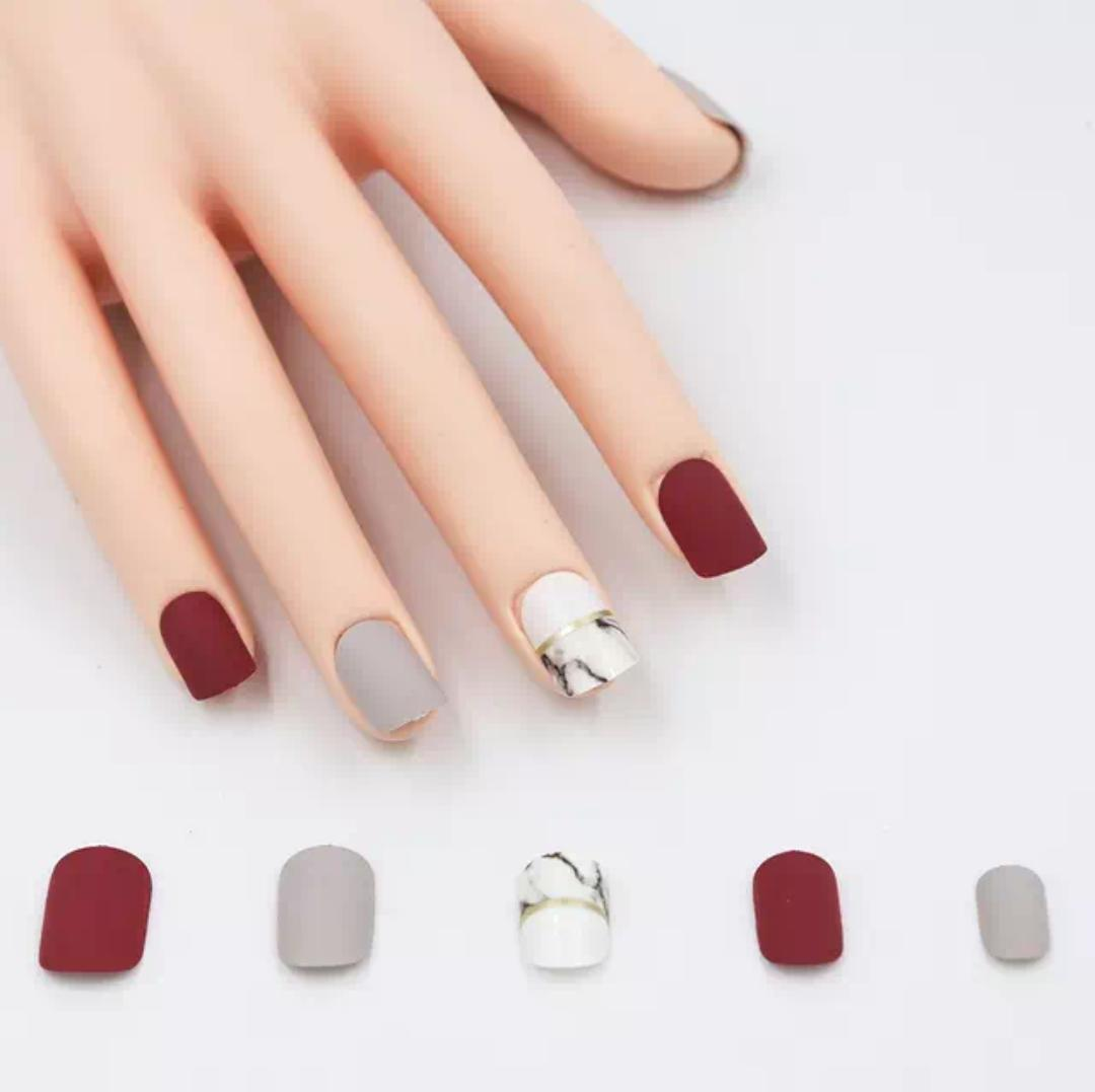 24pcs Natural French False Toe Full Nail Tip Nail Art Accessory Long Manicure For Improving Blood Circulation Nail Care, Manicure & Pedicure Health & Beauty