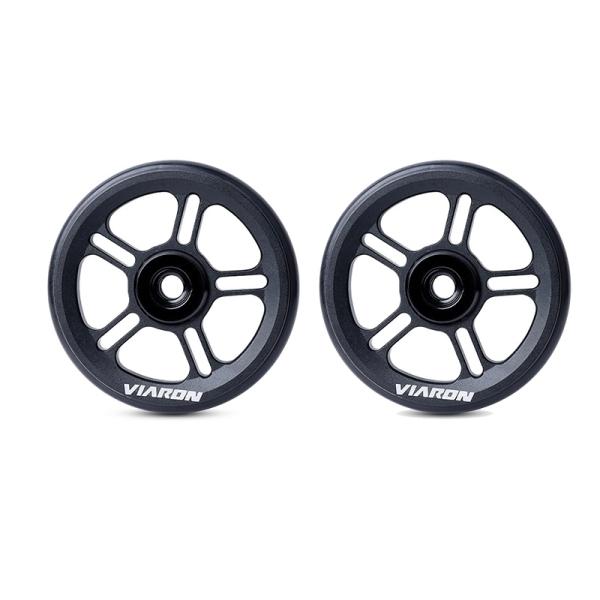 Phân phối VIARON for Brompton Folding Bike Rear Cargo Rack Easy Wheel Bearing Wheel for Brompton Accessories-2Pcs