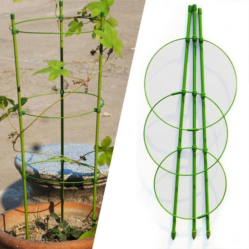 Climbing Plant Support Cage Garden Trellis Flowers Tomato Welcome Stand Rings 3 C6L4
