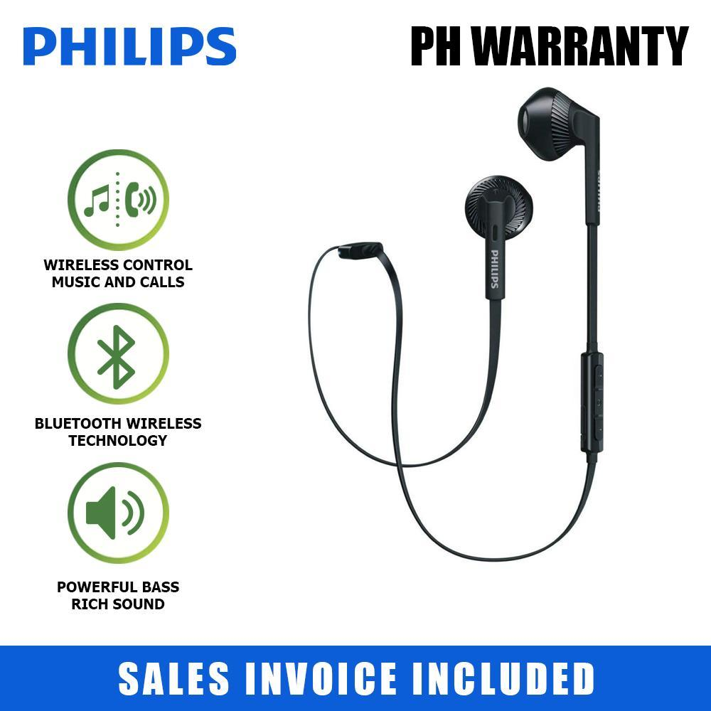 7d64698354f Philips FreshTones MyJam In-Ear Wireless Bluetooth Headset SHB5250 (Black)