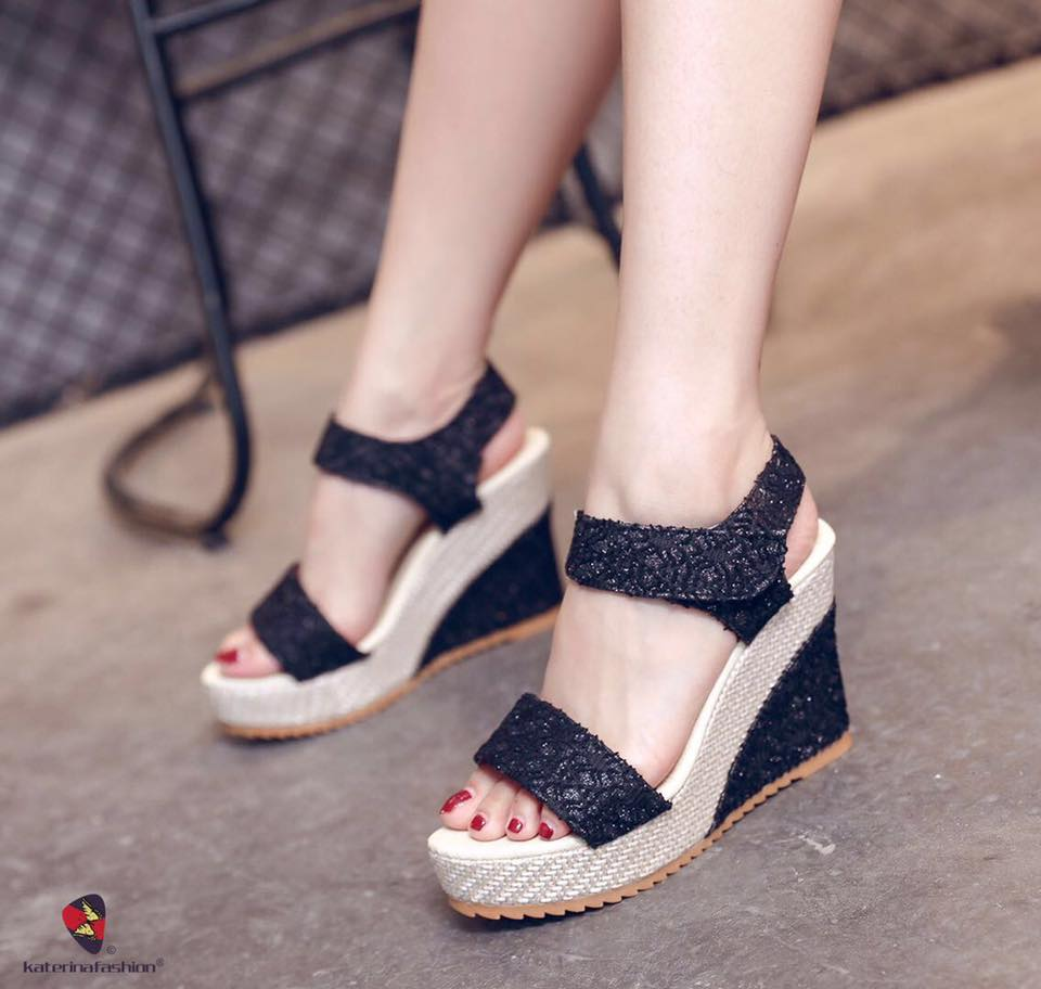 korean fashion wedge sandals for women