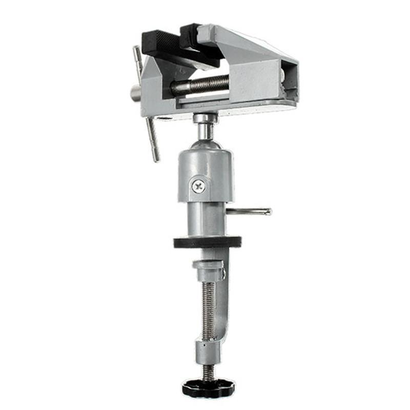 Mini Multifunction 2 In 1 Table Vise Bench Vice Aluminium Alloy 360 Degree Rotating Universal Clamp Units Vise