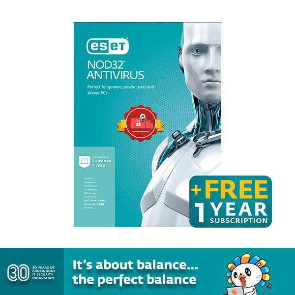 ESET NOD32 Antivirus for 1 Year 1 Computer