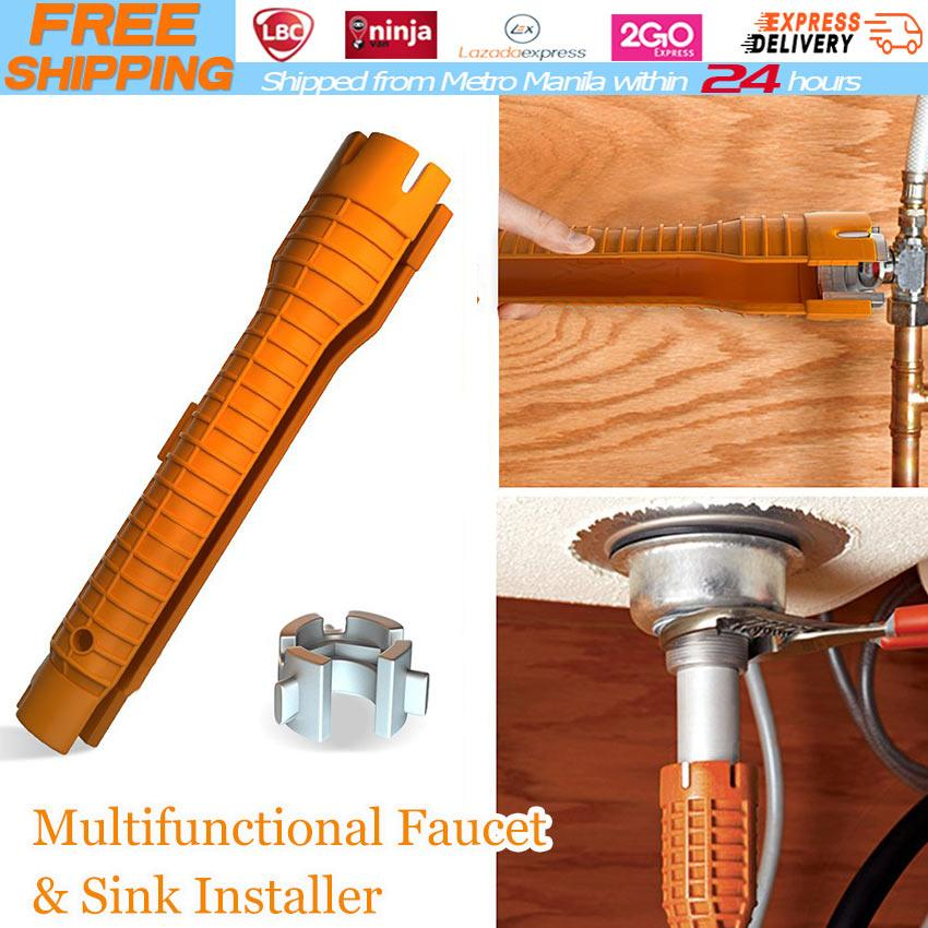 Multifunctional Sink Basin Faucet Wrench Sink  Tap Spanner Installer Tools