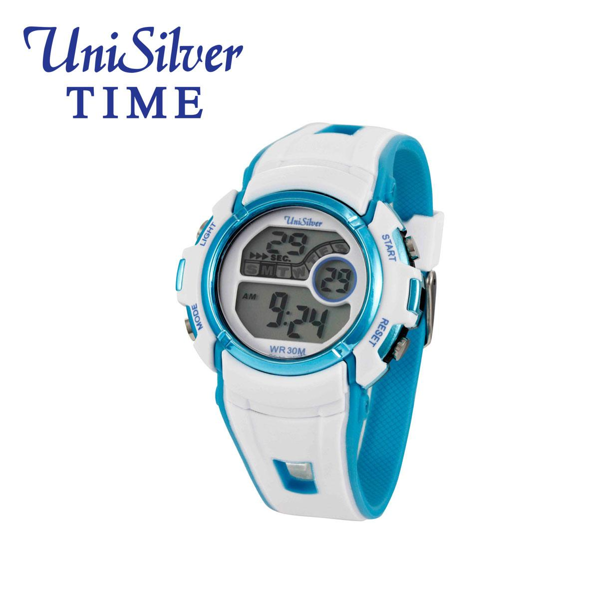 UniSilver TIME Xenon Digital Watch KW2212-2001 (White/Blue)