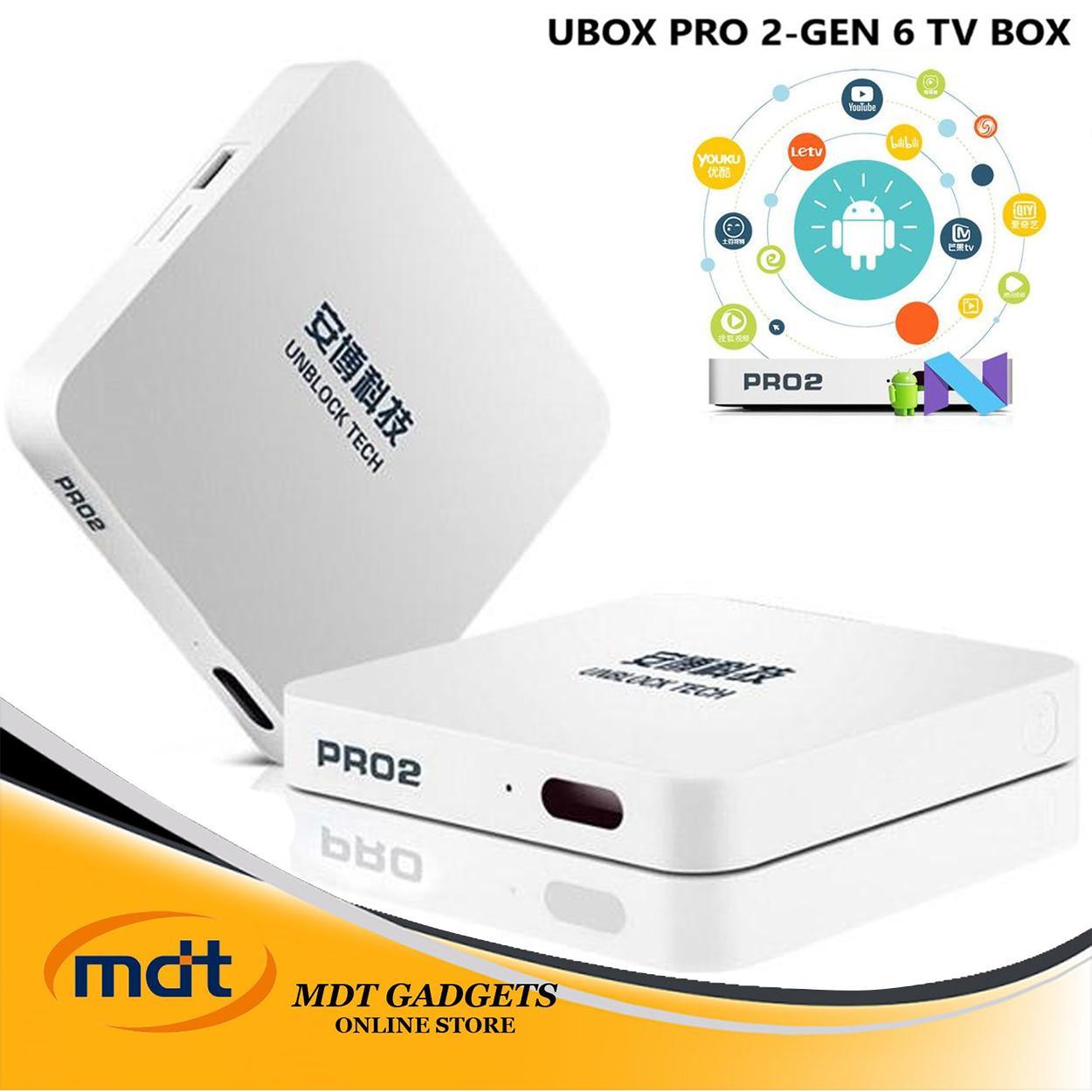 Unblock Tech UBOX PRO UPRO2 TV Box 2019 (white)