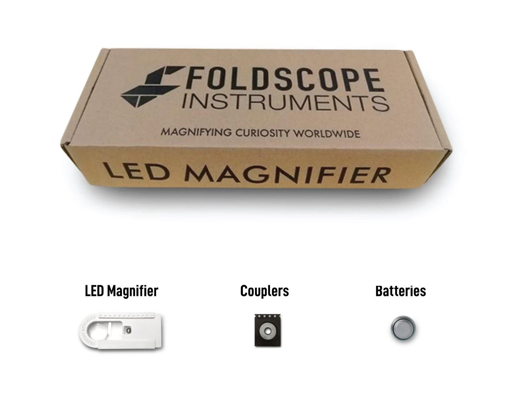 Foldscope LED Magnifier for Paper Microscope image