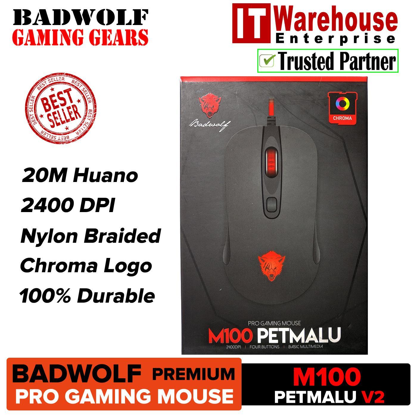 Badwolf Premium M100 Petmalu PRO V2 Gaming Mouse Chroma Lights for Gamers  Version 2 - Badwolf