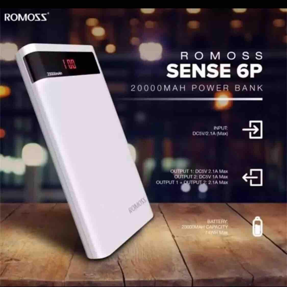 Romoss Sense 6plus 20000mah Powerbank 20000 Mah POWER BANK Mking