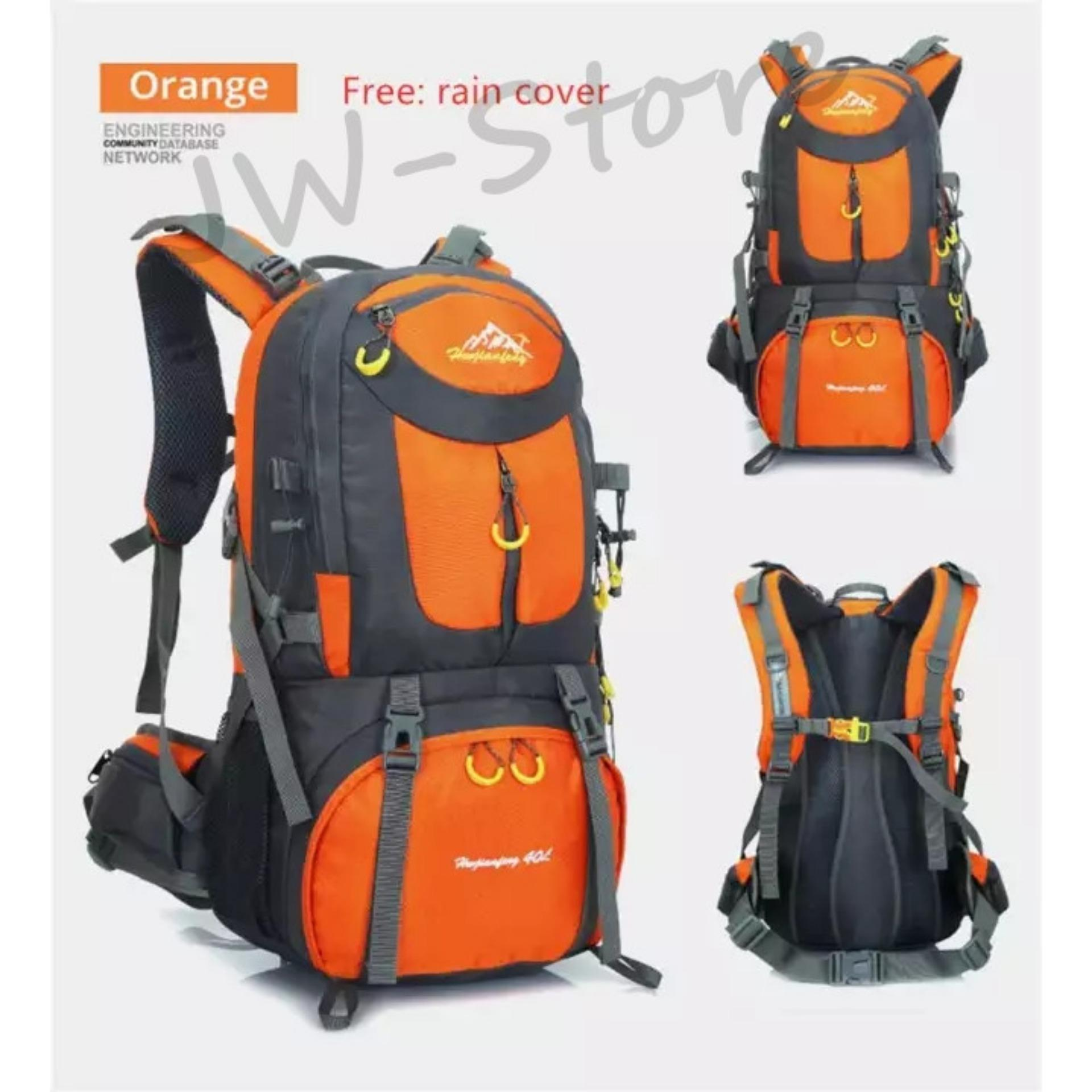 [ready Stock] Hiking Backpack 50l Rucksacks Waterproof Backpack Men Outdoor Camping Backpack Gym Bags Travel Bag Women Large Sport Bags By Jw-Store.