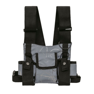 Chest Rig Bag Functional Outdoor Sports Chest Bag Men Protective Reflective Top Chest Vest Bag Cycling Fishing thumbnail