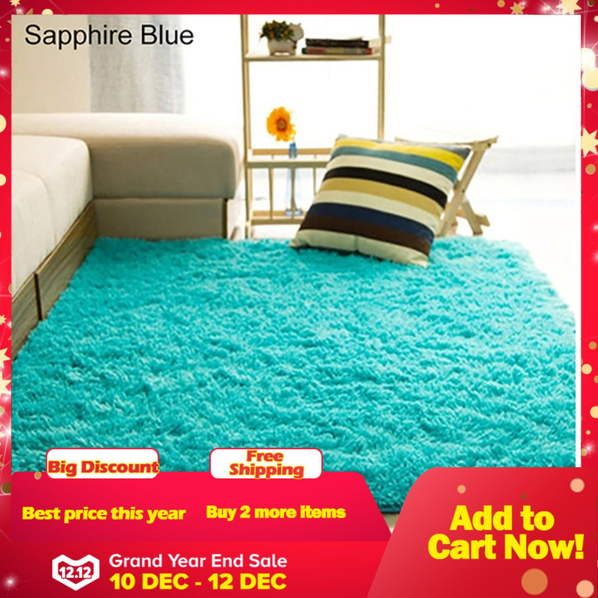 Sanwood Living Room Bedroom Home Anti Skid Soft Shaggy Fluffy Area Rug Carpet Floor