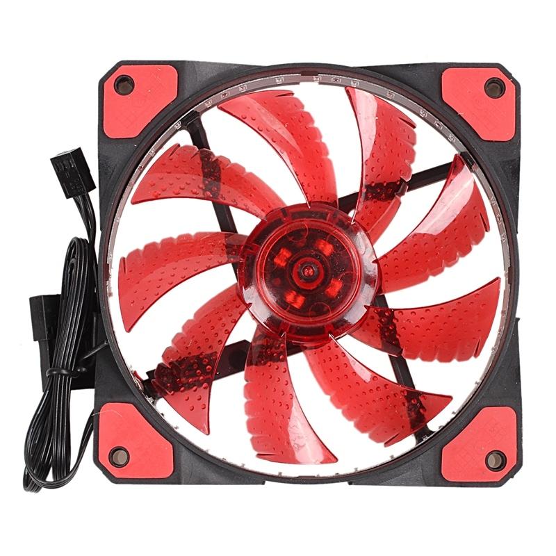 Bảng giá 120mm PC Computer 16dB Ultra Silent 33 LEDs Case Fan Heatsink Cooler Cooling with Anti-Vibration Rubber,12CM Fan,12VDC 3P IDE 4pin red Phong Vũ
