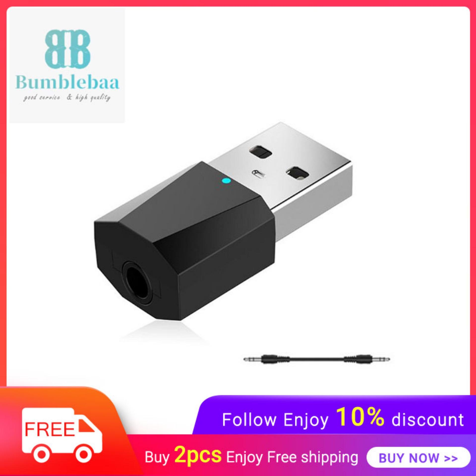 Bumblebaa USB Bluetooth 4 2 Stereo Audio Receiver Adapter Wireless Audio  Adapter Car Kit Music Receiver Bluetooth Car Adapter For Speakers/Car TV