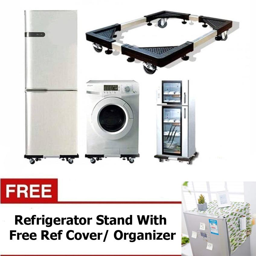 ACB Appliance Base Stand w/ WHEELS for Washing Machines and Refrigerators  With Free Ref Cover / Organizer