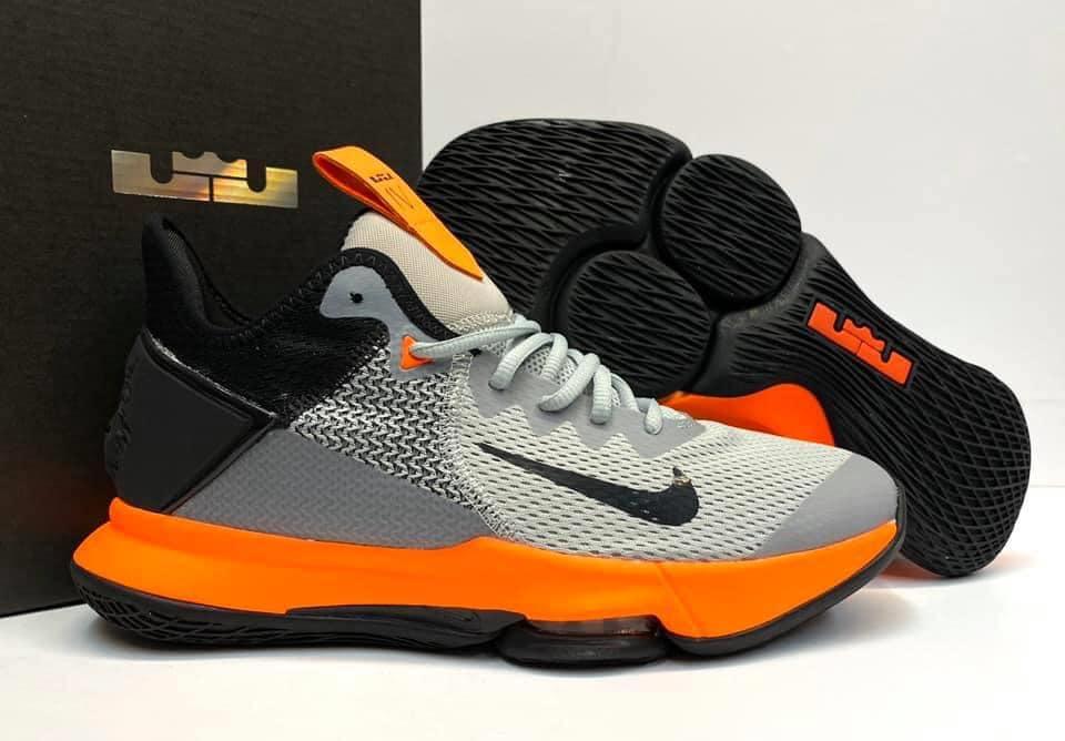 Funcionar norte banda  Authentic Quality Nike LeBron Witness 4 High Grey/Orange/Black Men's  Sneakers Basketball Shoes   Lazada PH