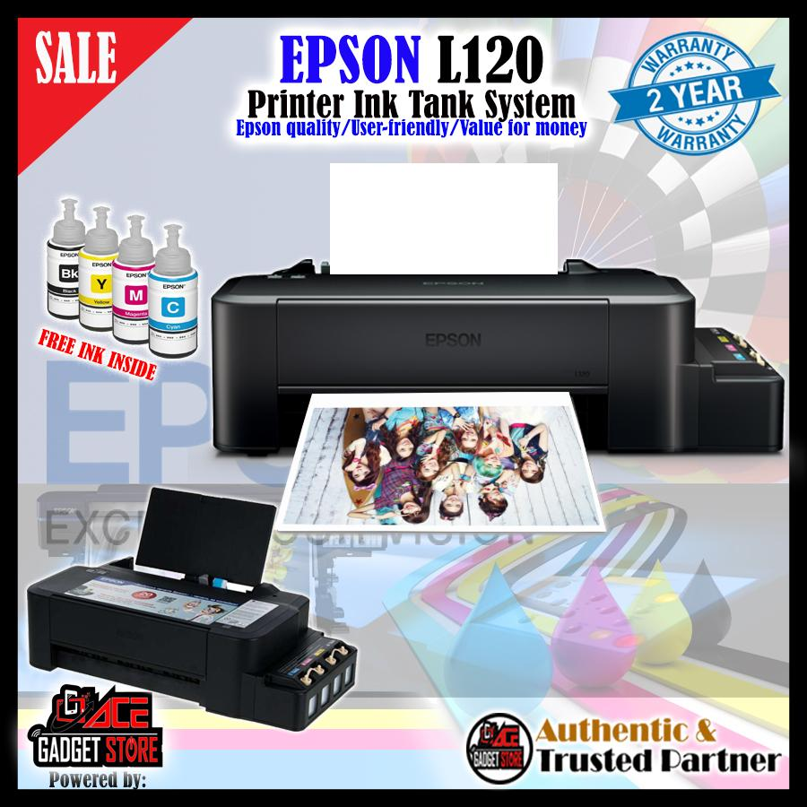 EPSON L120 continues Ink System (Premuim top 1 Printer ) Free Ink inside 4  color Genuine 2 years warranty