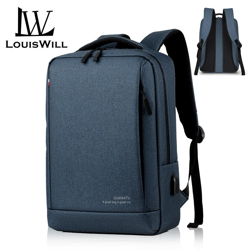 256e1080359f LouisWill Backpacks Men Laptop Backpack Waterproof Travel Backpack Bag  College Backpack Shoulder Bag Anti Theft Back Pack School Bag with USB  Charging ...