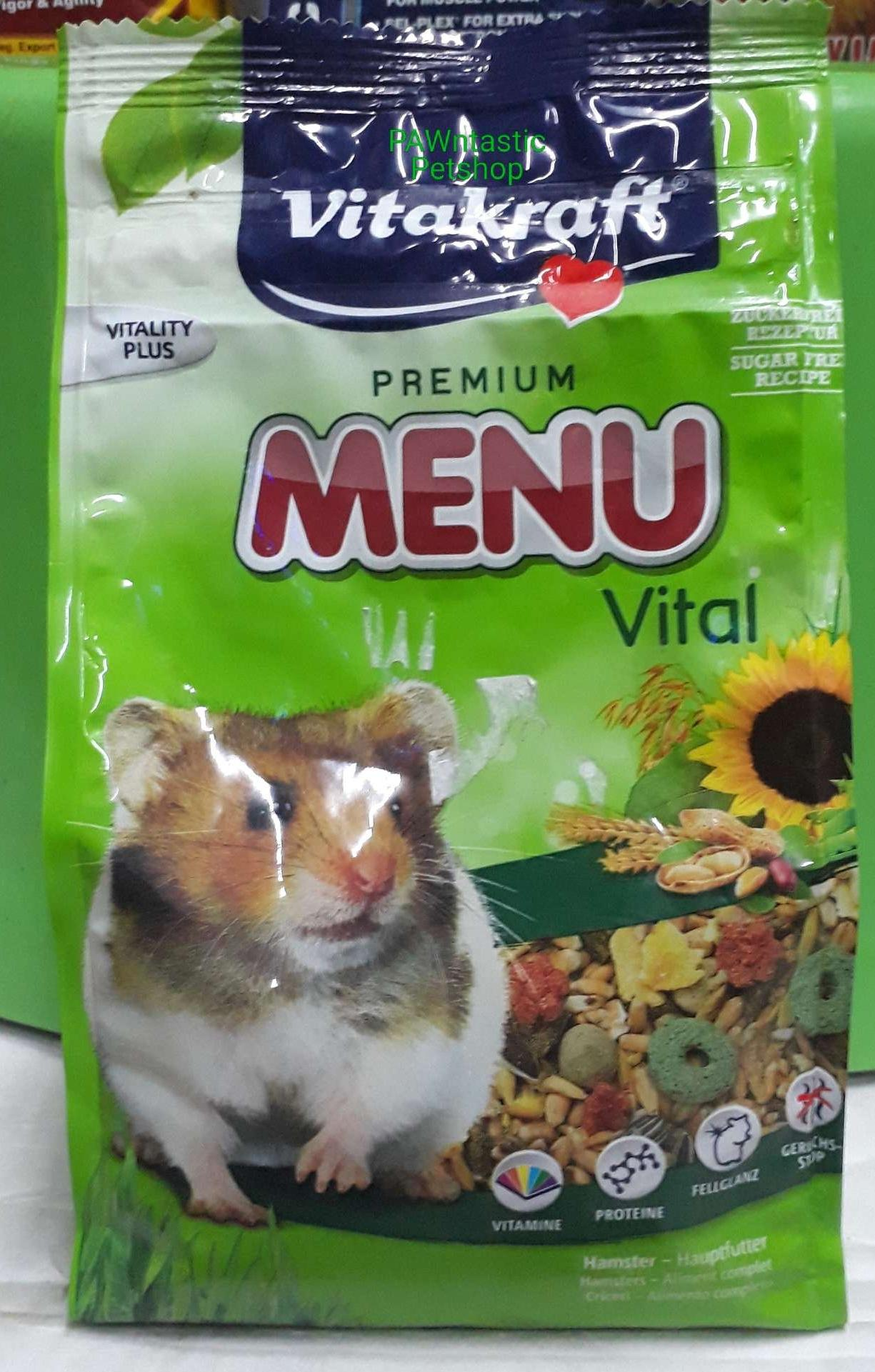 Menu Vital Hamster Food 400g By Pawntastic Petshop.