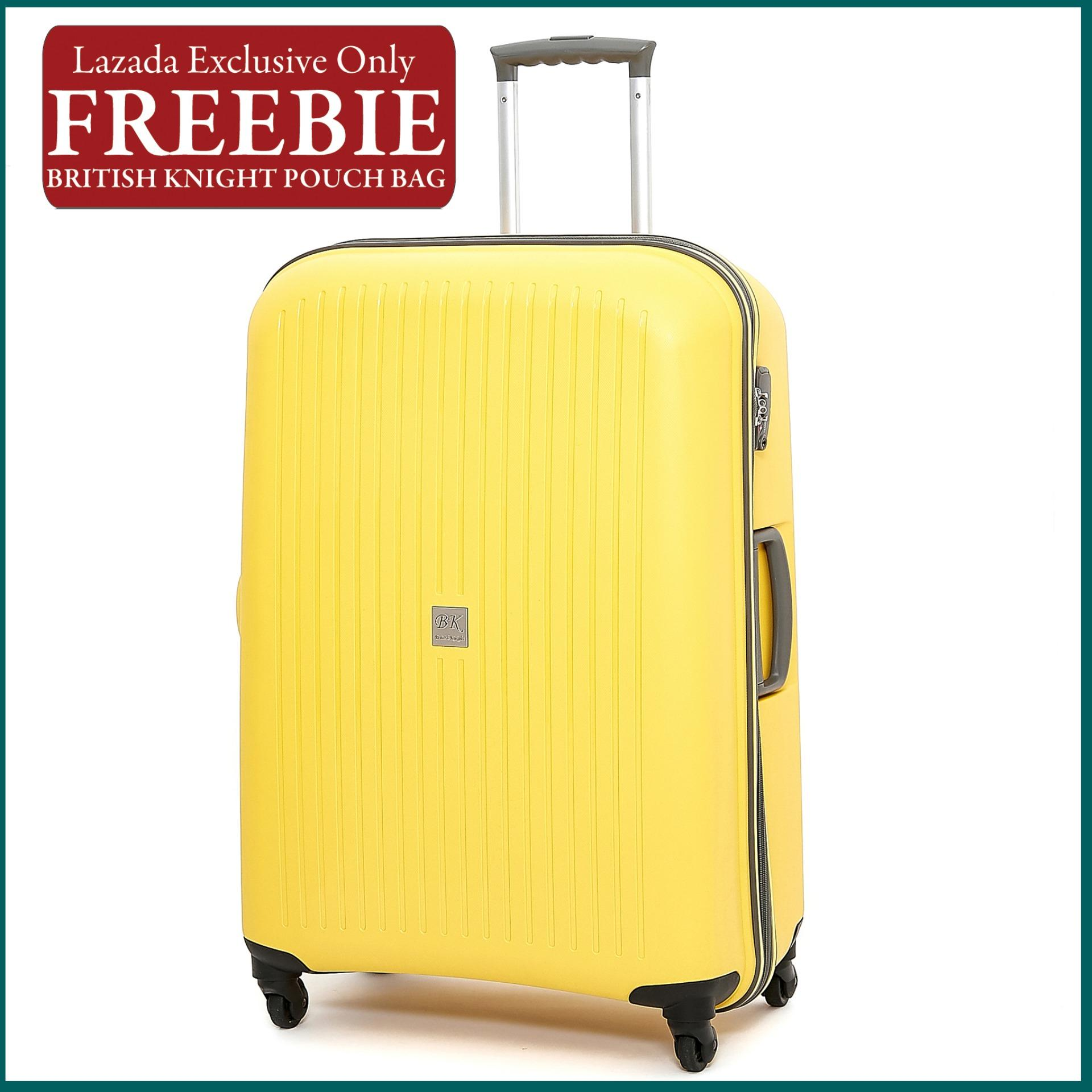 0b918345001 British Knight BIP950 Yellow Large (28 Inch) Luggage with TSA Lock (FREE  British