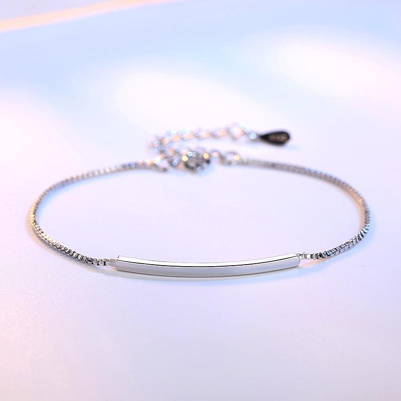 925 Sterling Elbow Bracelets women Japanese And Korean Simple Fashion Fresh Sweet Versitile Jewelry Gift