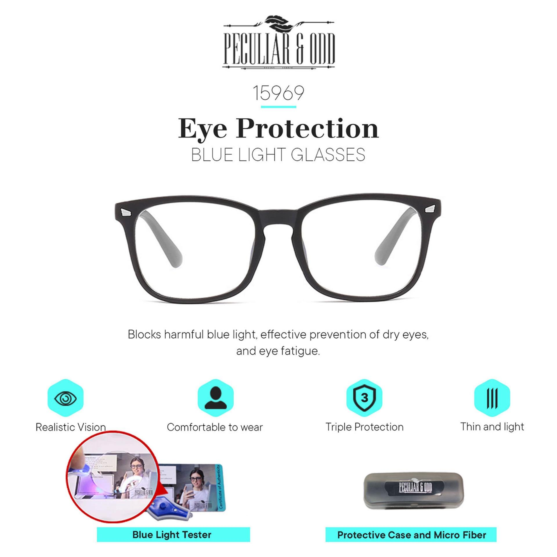 f29464b80020 Peculiar Optical Square 15969_SanBlack Anti Radiation Blue Lens Computer  Replaceable for Prescription Lenses Eyewear / Eyeglass