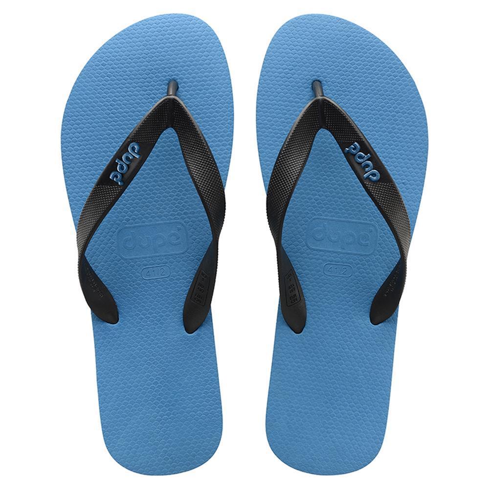 c5d79a539 Dupe Aquarela Masculina Flip Flops Mens ( Turquois Blk) - 390