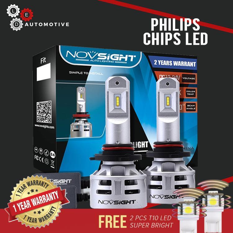 Novsight H4 Philips Led Light For Car Led Bulb Led Headlight H4 Novsight  Led Car Light Bulb 10,000lm 6500k By Led Automotive Philippines