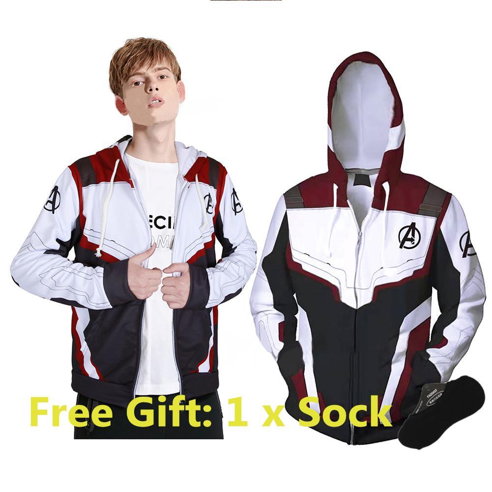 c6926d92 SALE EN The Avengers 4 Endgame Quantum Realm Jacket 3D Print Zipper Hoodie  Superhero Cosplay Jacket