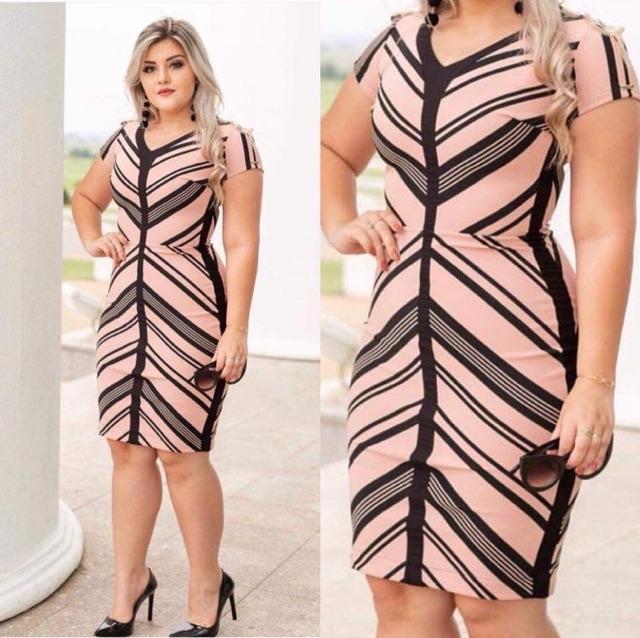 40b614c4335 Sebrina store fashion stripe plus size dress for women vintage bodycon  dress show a good figure