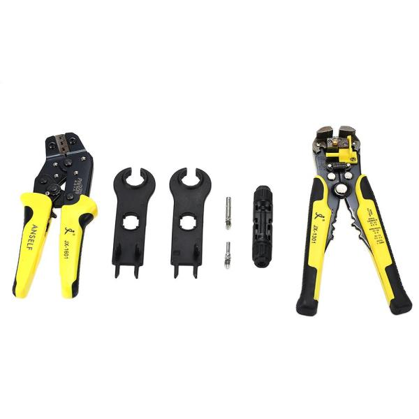 PARON Professional MC4 Solar Panel Crimping Tools 2.5-6mm² 14-10AWG Wire Crimper Solar Wire Connector Cut Kit With Wire Stripper Crimping Pliers