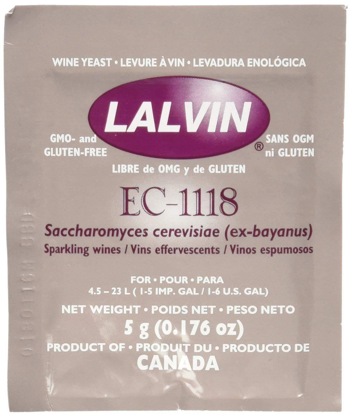 Lalvin Dried Wine Yeast Ec 1118 (pack Of 10) By Elite Collection.
