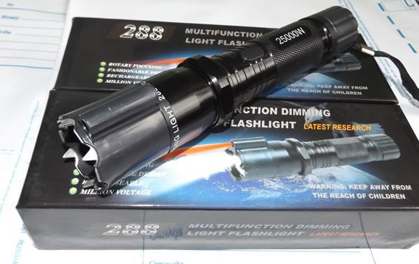 Multifunction Dimming Light Flashlight with Electric Shock Head (Black) *LOVEWORLD Philippines