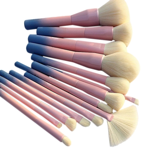 14Pcs Gradient Color Makeup Brushes Set Cosmetic Powder Foundation Eyeshadow Eyeliner Brush Kits Make Up Brush Tool tốt nhất