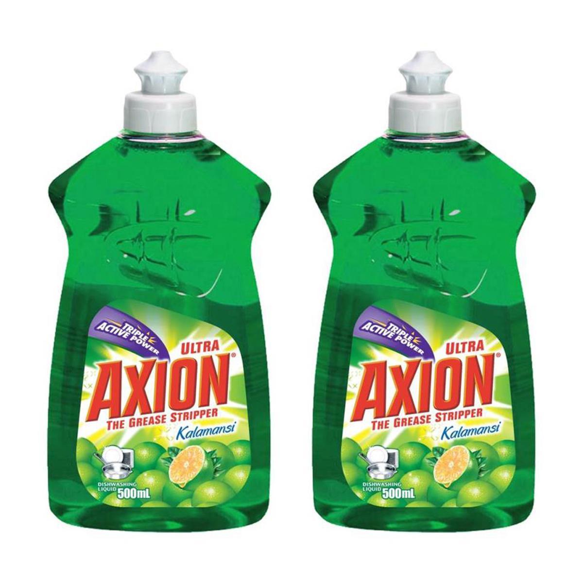 Axion Dishwashing Liquid Kalamansi 500ml, Pack Of 2 By Lazada Retail Sulit Finds.